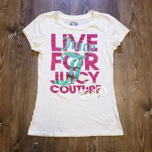 JUICY COUTURE LIVE FOR JUICY GLITTER PRINT TEE S